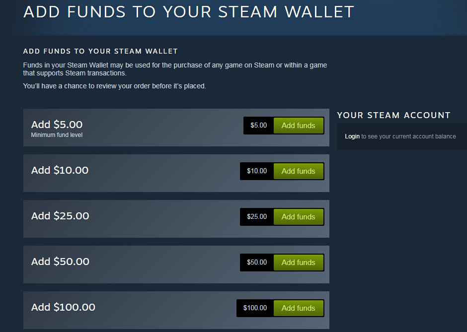 Steam Wallet Code (US) online purchase, Fast and secure buy cards in